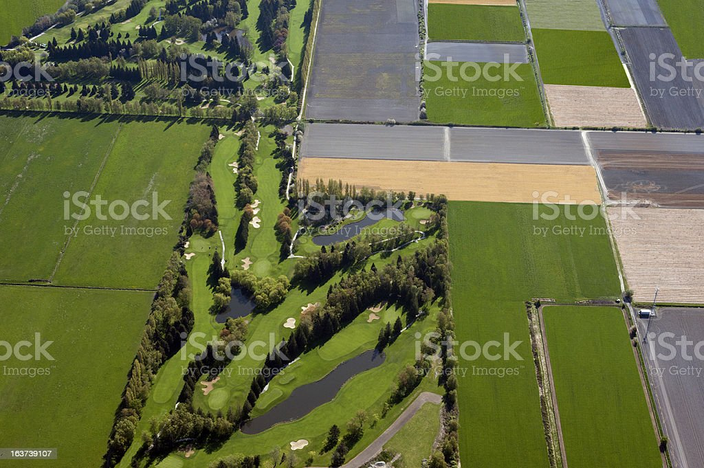 Golf Course and fields royalty-free stock photo