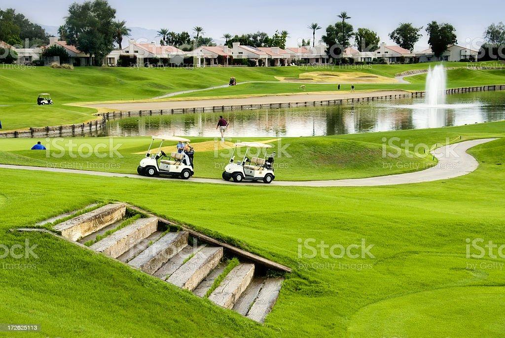 Golf Course at La Quinta stock photo