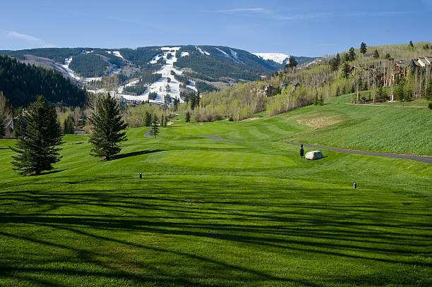 Golf Course at Ski Resort Beaver Creek Colorado Ski Resort Golf Course beaver creek colorado stock pictures, royalty-free photos & images