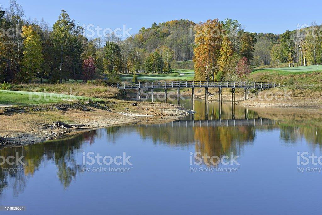 Golf Course at Stonewall Jackson Lake State Park stock photo