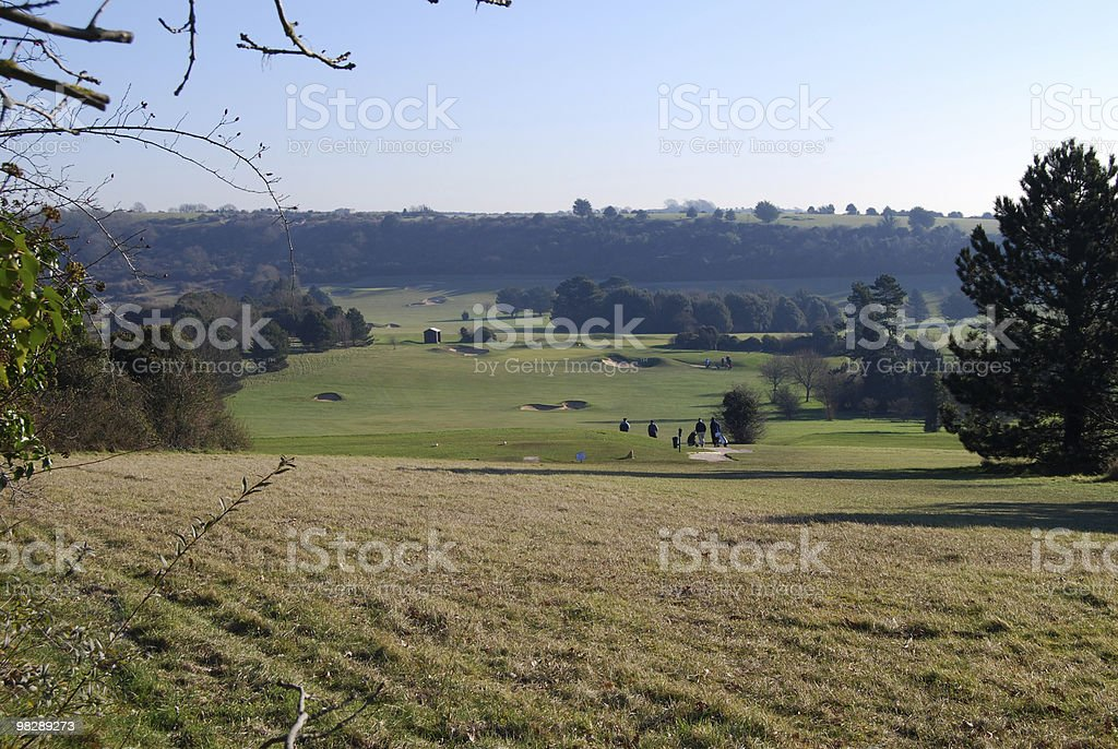 Golf Course at Worthing, West Sussex. England.  Early Morning royalty-free stock photo
