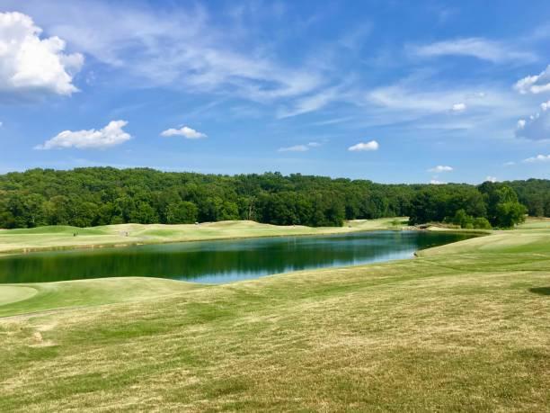 Golf course, Barnsley Garden, Georgia stock photo