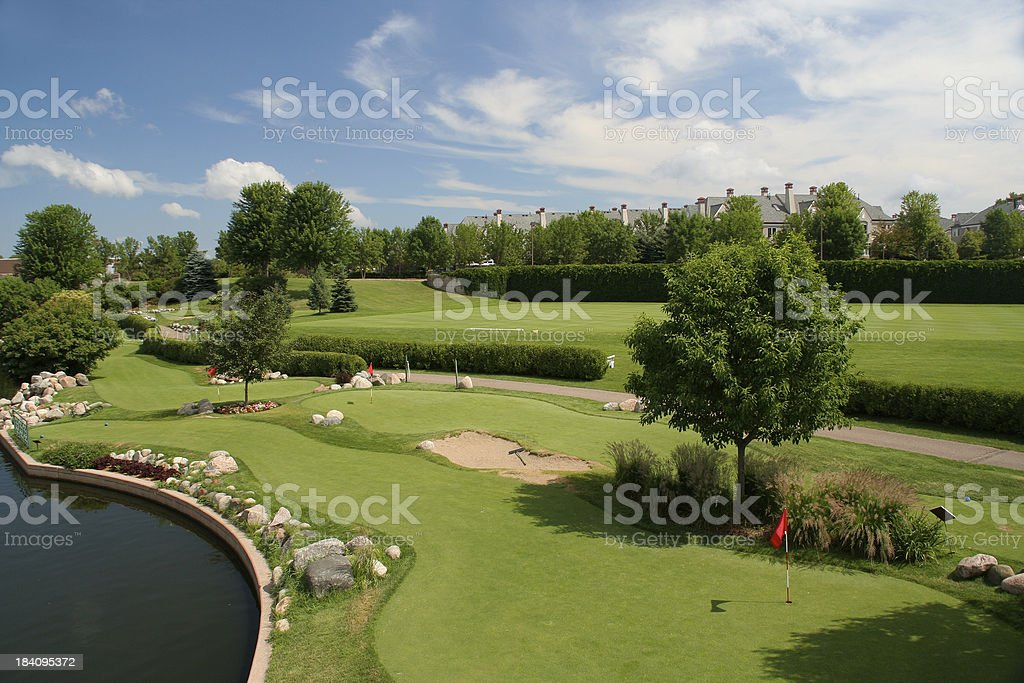 Golf Course, City Park and Community in Minneapolis Minnesota stock photo