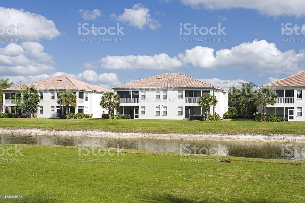 Golf Course Condos stock photo