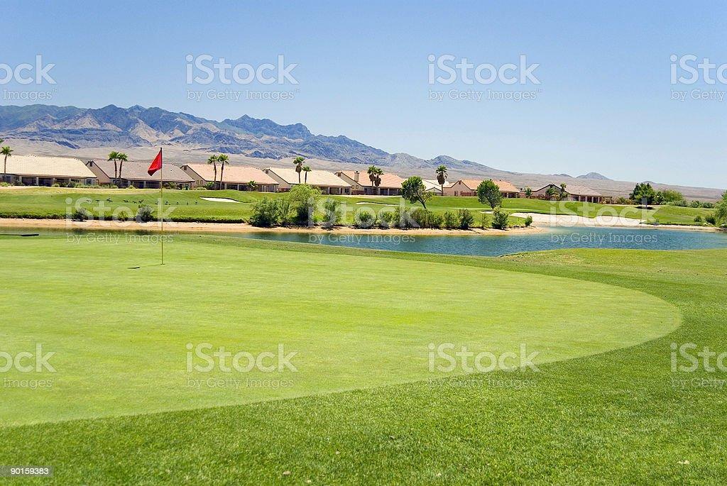 Golf Course Condos royalty-free stock photo