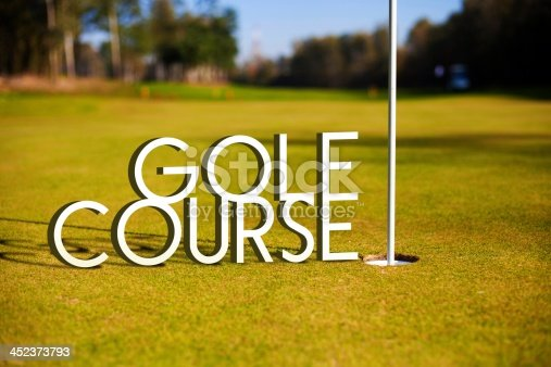 683035640 istock photo Golf course design background photography and typography 452373793