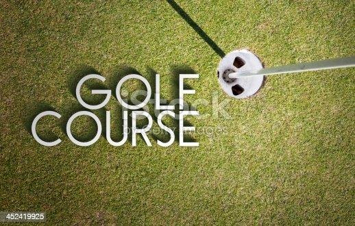 683035640 istock photo Golf course design background photography and typography 452419925