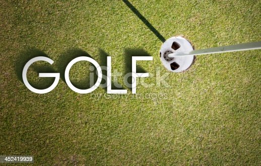 683035640 istock photo Golf course design background photography and typography 452419939
