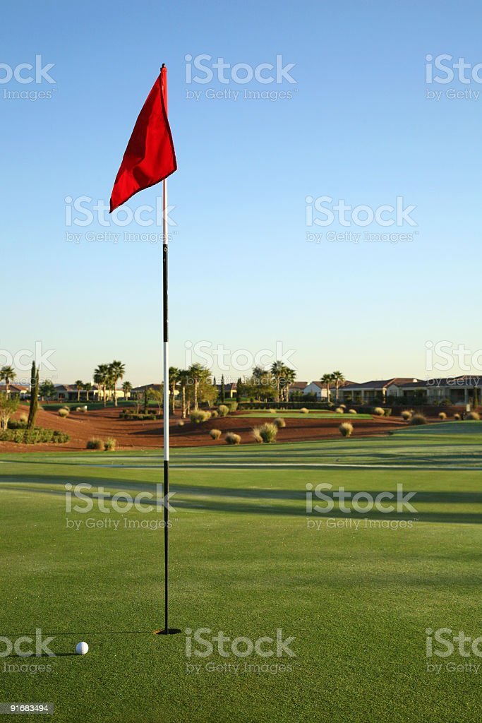 Golf course details-Phoenix-USA royalty-free stock photo