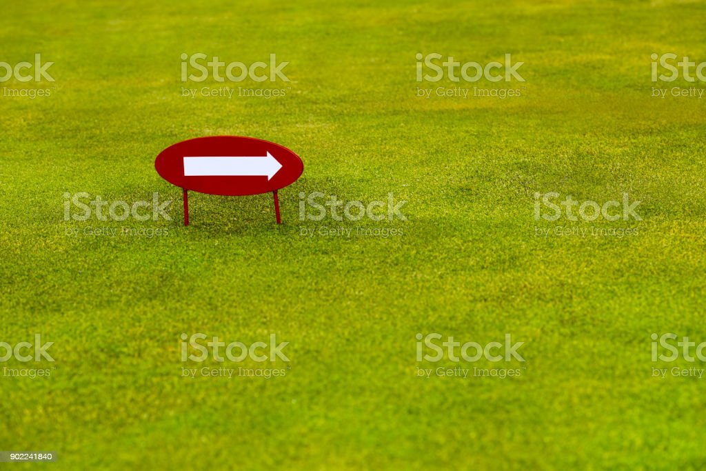 Indication signs in the golf course