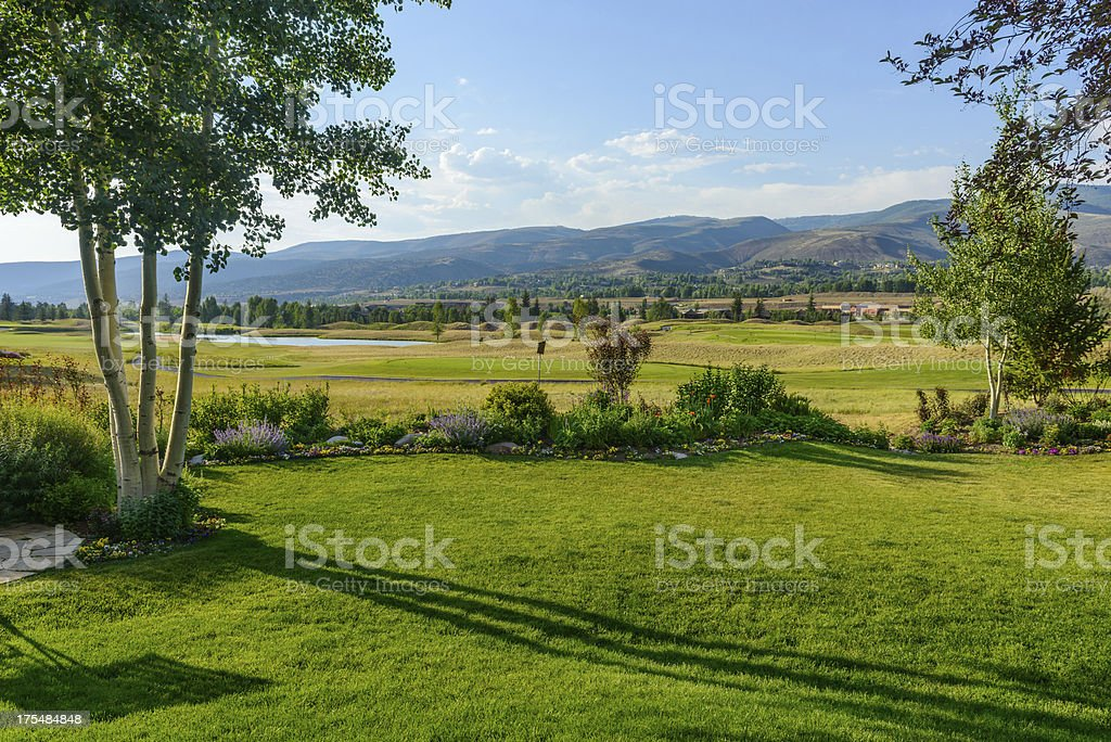 Golf Course Fairway and Greens royalty-free stock photo