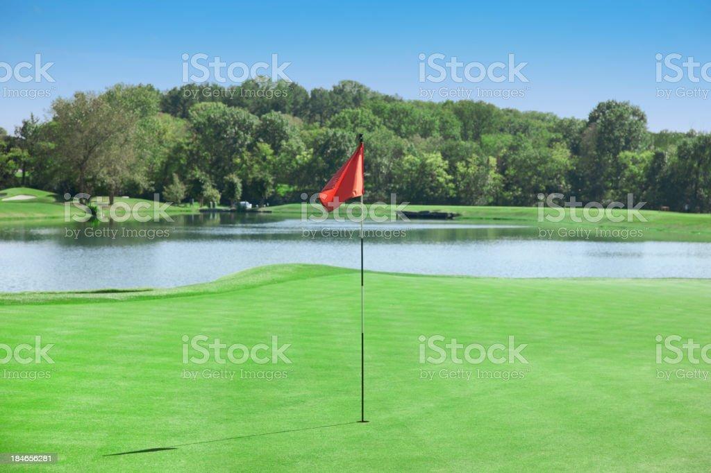 Golf Course Flag stock photo