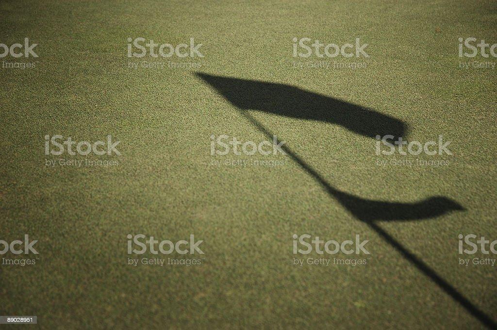 Golfplatz-Flagge Lizenzfreies stock-foto