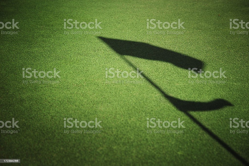 golf course flag shadow royalty-free stock photo
