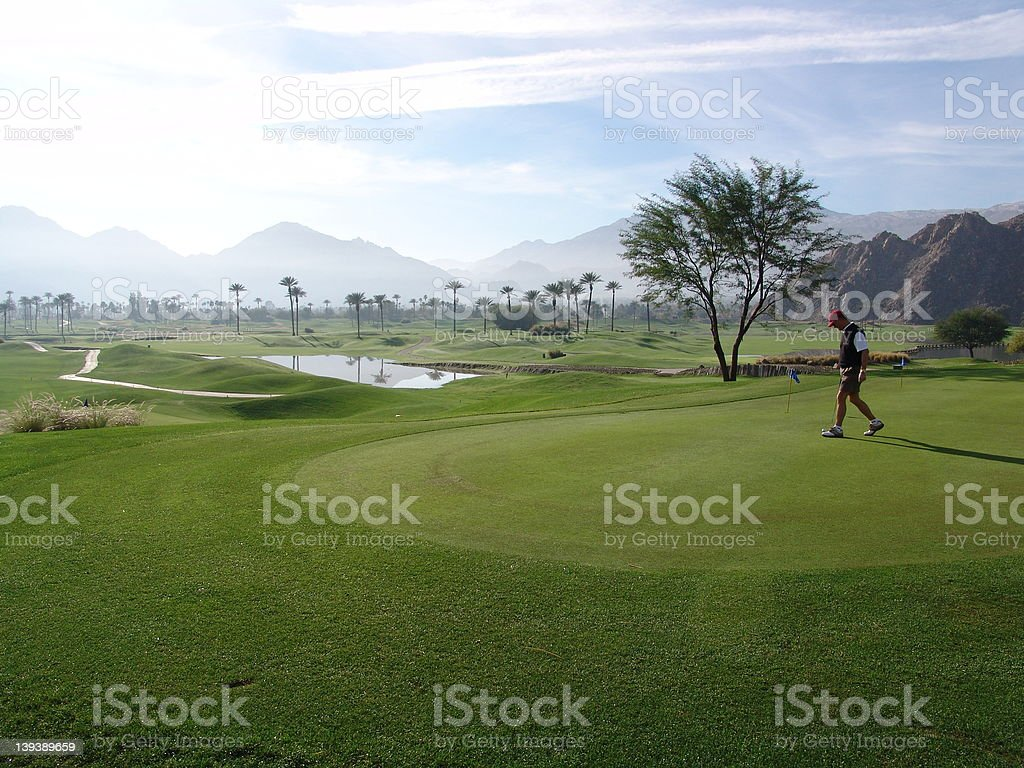 Golf Course in La Quinta royalty-free stock photo
