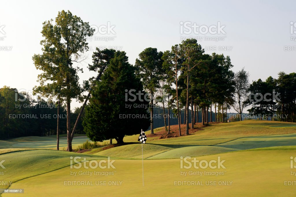 Golf course in Lake Lanier Islands Resort stock photo