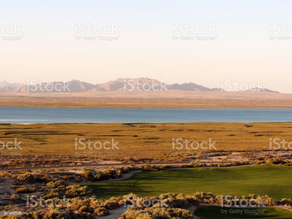 Golf Course in Mexico stock photo