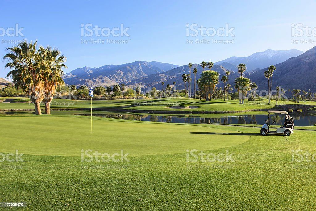 Golf course in Palm Springs, California royalty-free stock photo