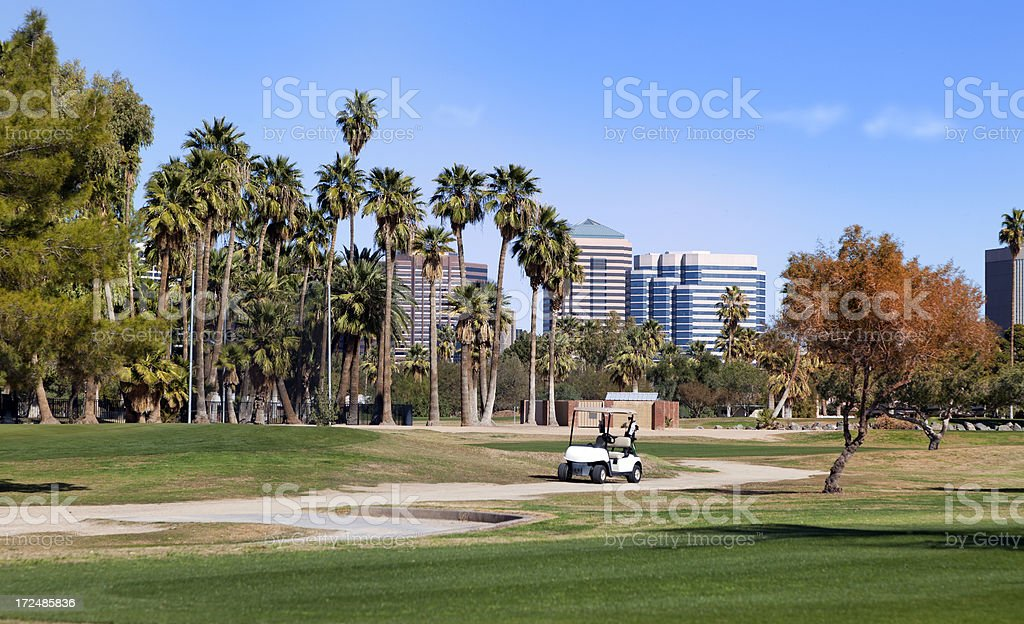 Golf course in Phoenix, Arizona royalty-free stock photo