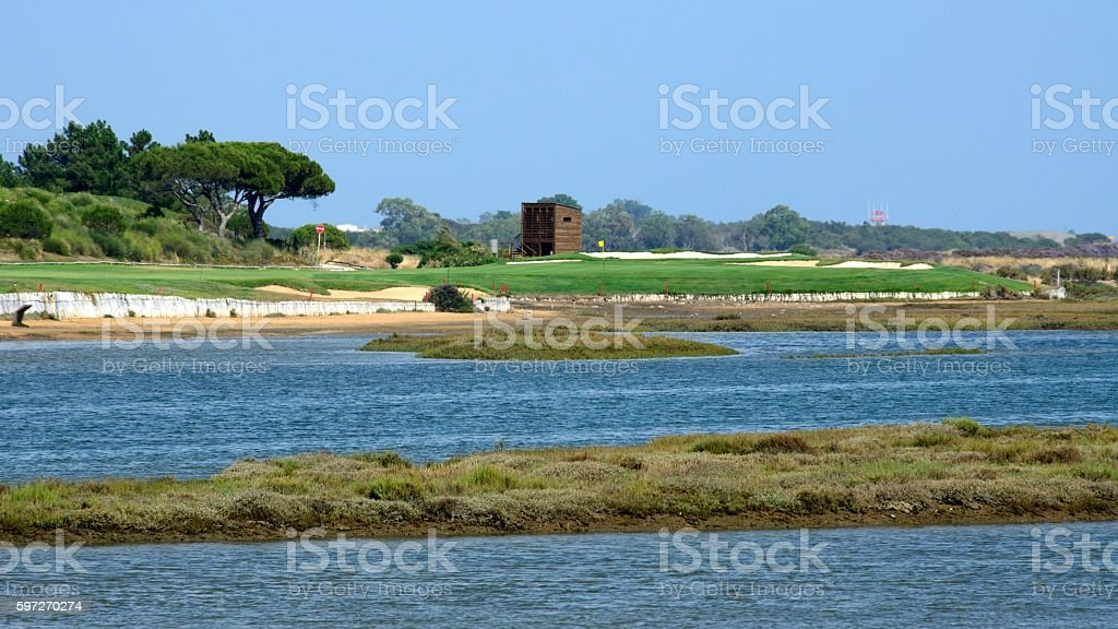 Campo de golf en Quinta do Lago, Almancil royalty-free stock photo