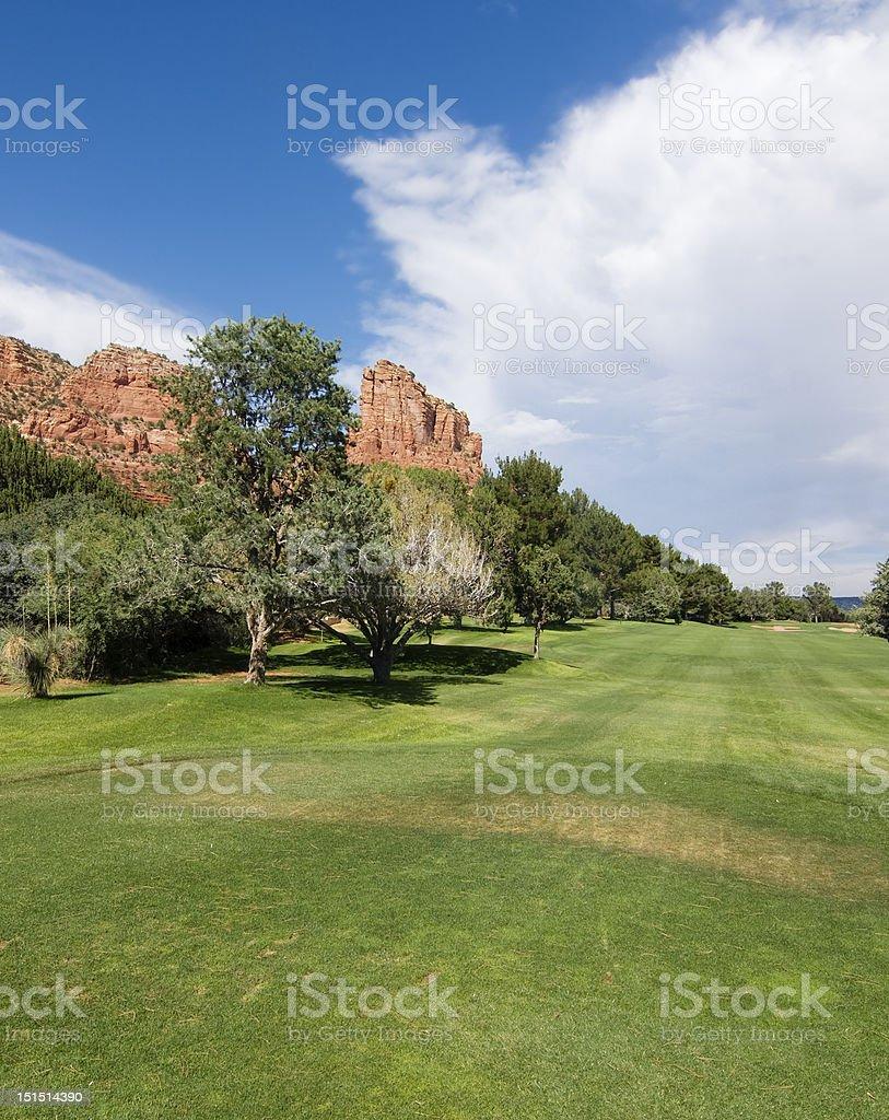 Golf course in Sedona,AZ royalty-free stock photo