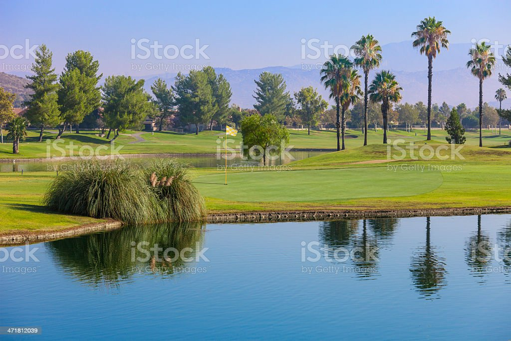 Golf course in Southern California stock photo
