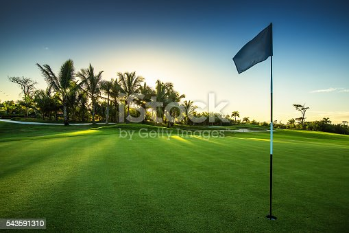 istock Golf course in the countryside 543591310