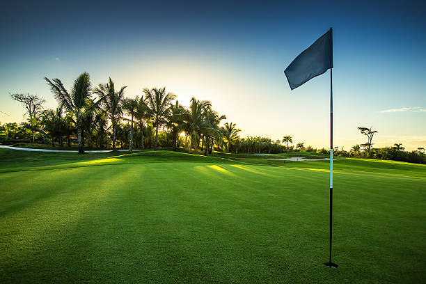 golf course in the countryside - golf stock photos and pictures