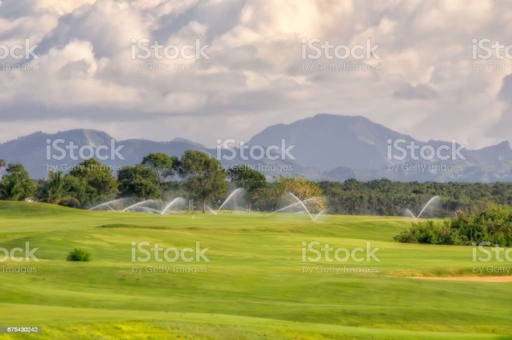 Golf course in the Dominican Republic. royalty-free stock photo