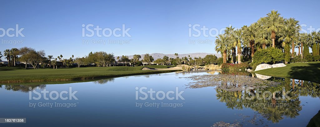 golf course, indian wells stock photo