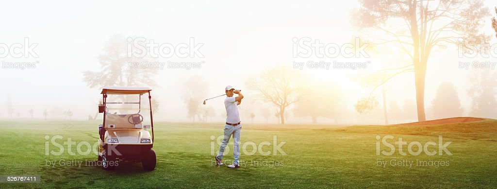 golf course man stock photo