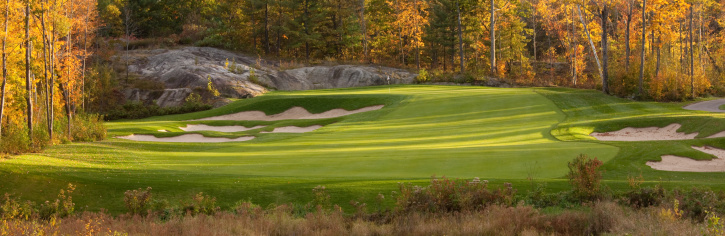 Golf Course Panorama Stock Photo - Download Image Now - iStock