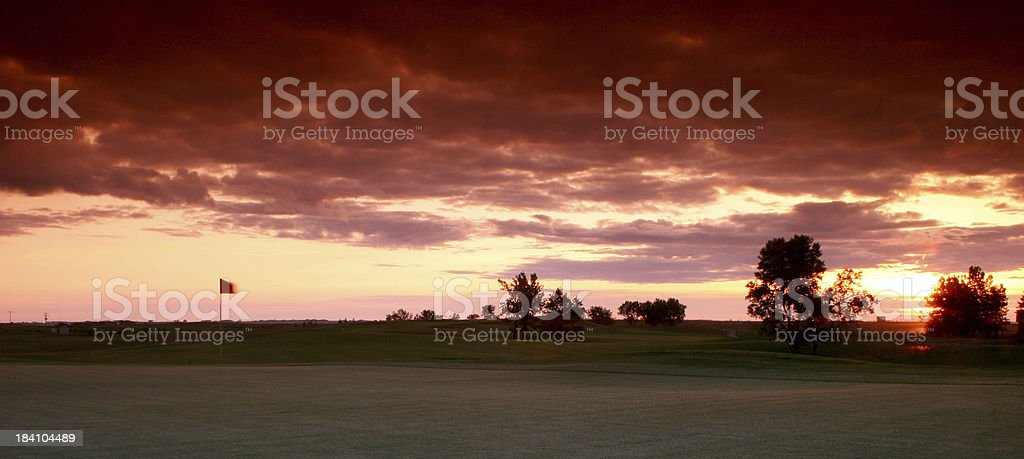 Golf Course Panorama royalty-free stock photo