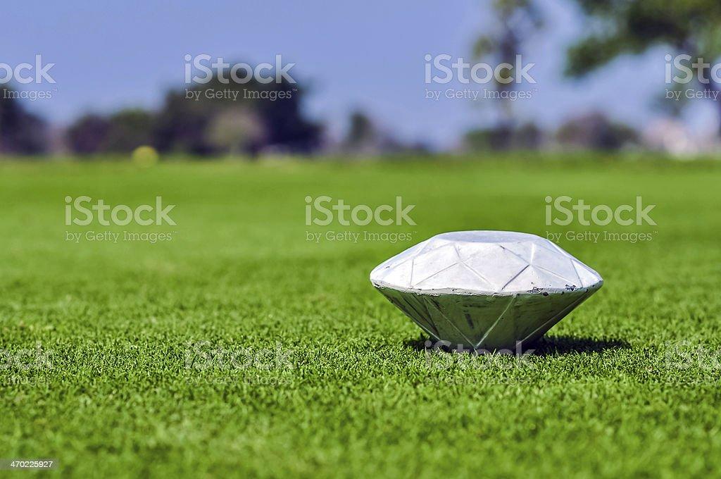Golf course pin 1 stock photo