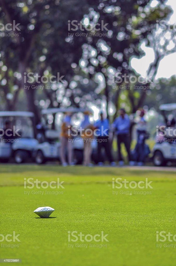 Golf course pin stock photo