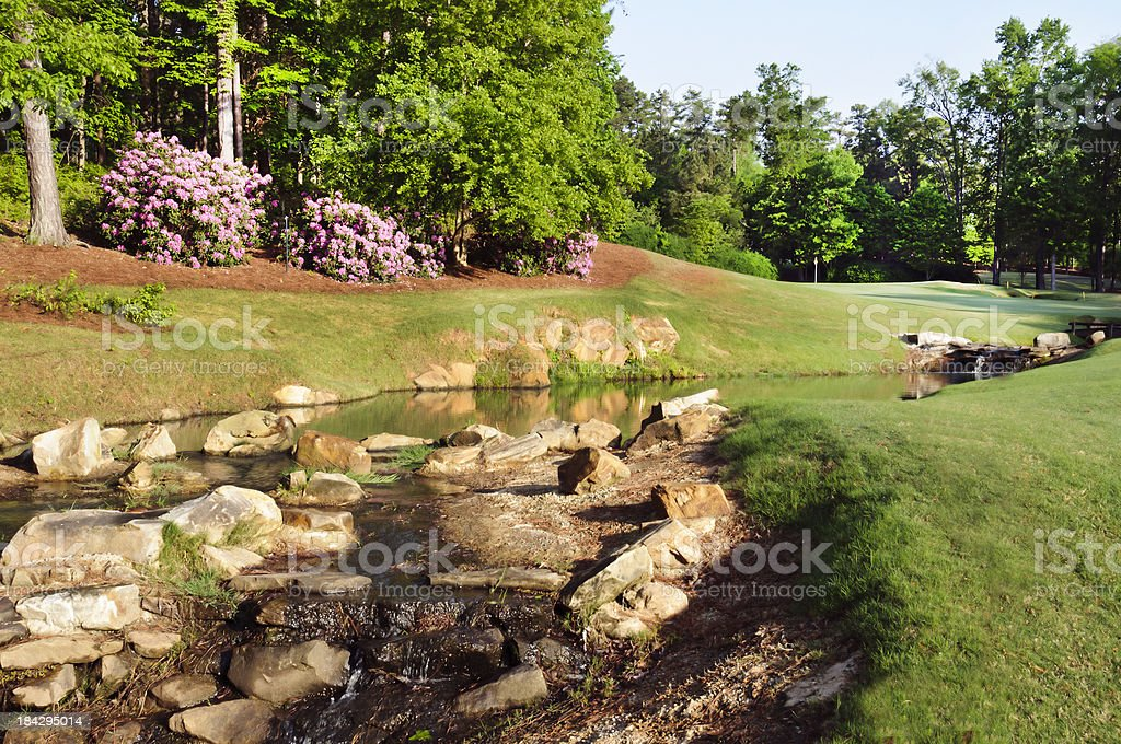 Golf Course - Reynolds Plantation National, Ridge 9 stock photo
