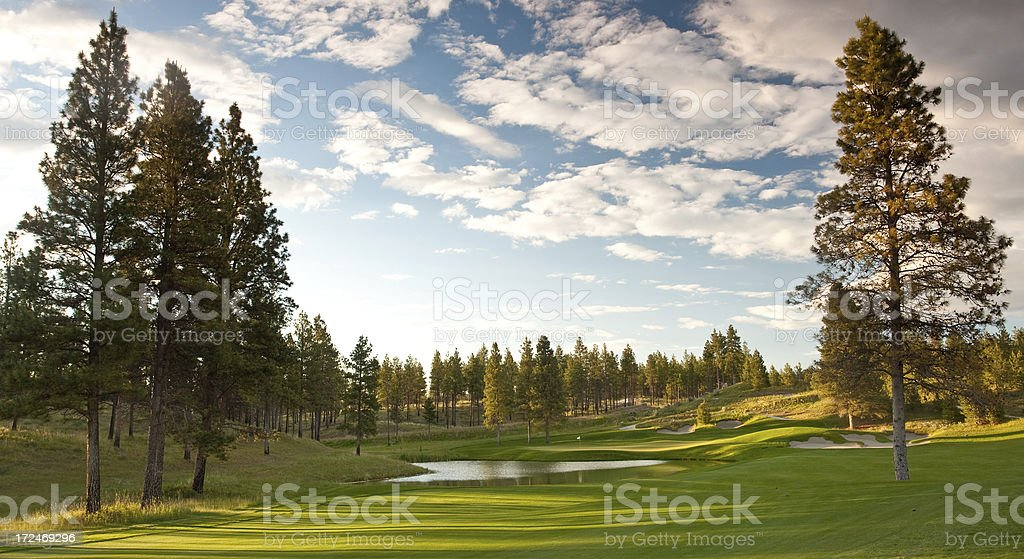 Golf Course Scenic royalty-free stock photo