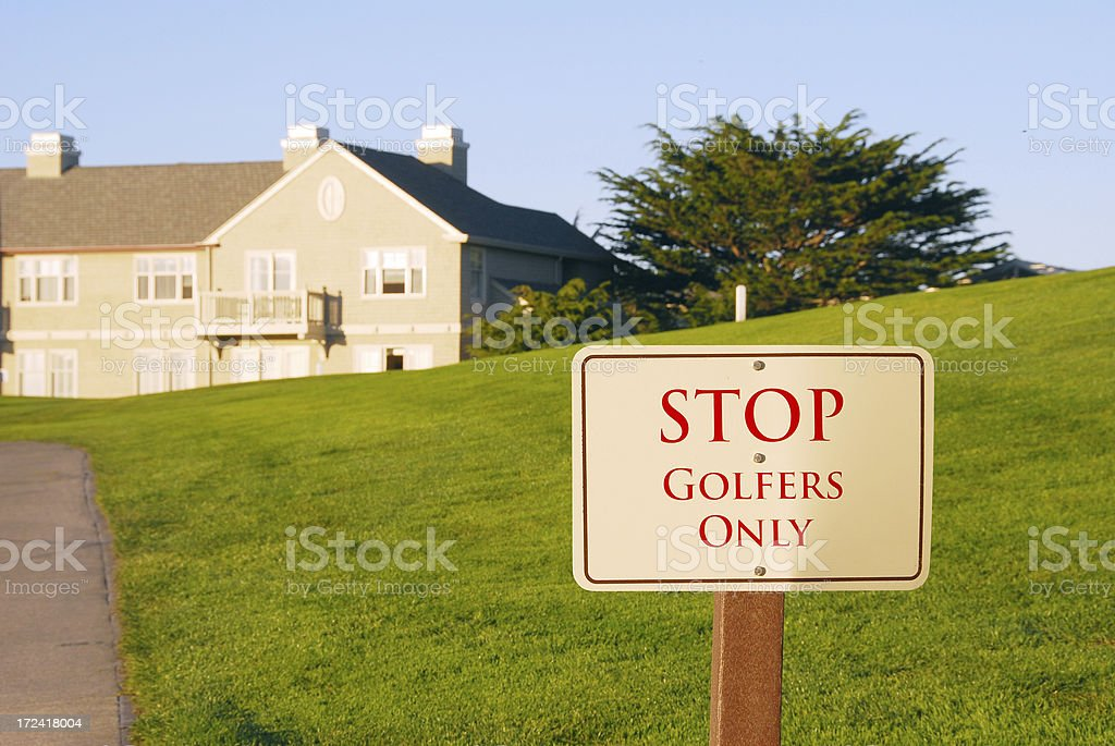 Golf Course Sign royalty-free stock photo