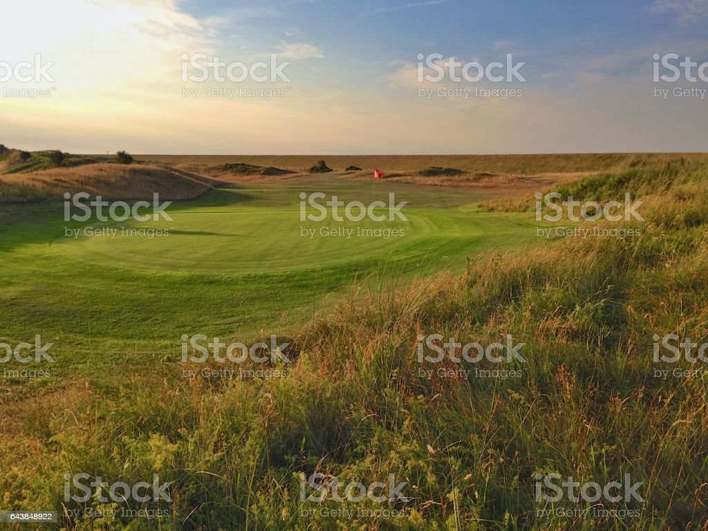 golf course St. Peter-Ording stock photo