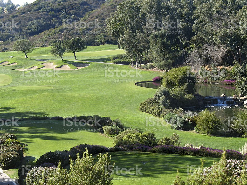 Vista campo da golf foto stock royalty-free
