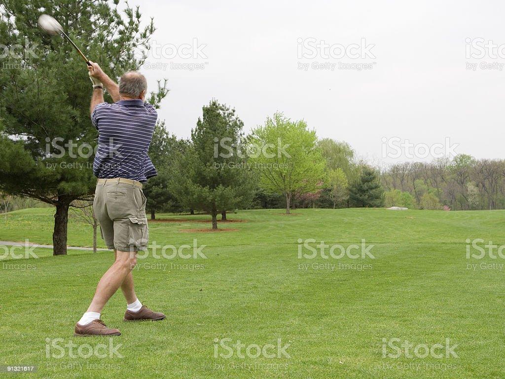 Golf Drive royalty-free stock photo