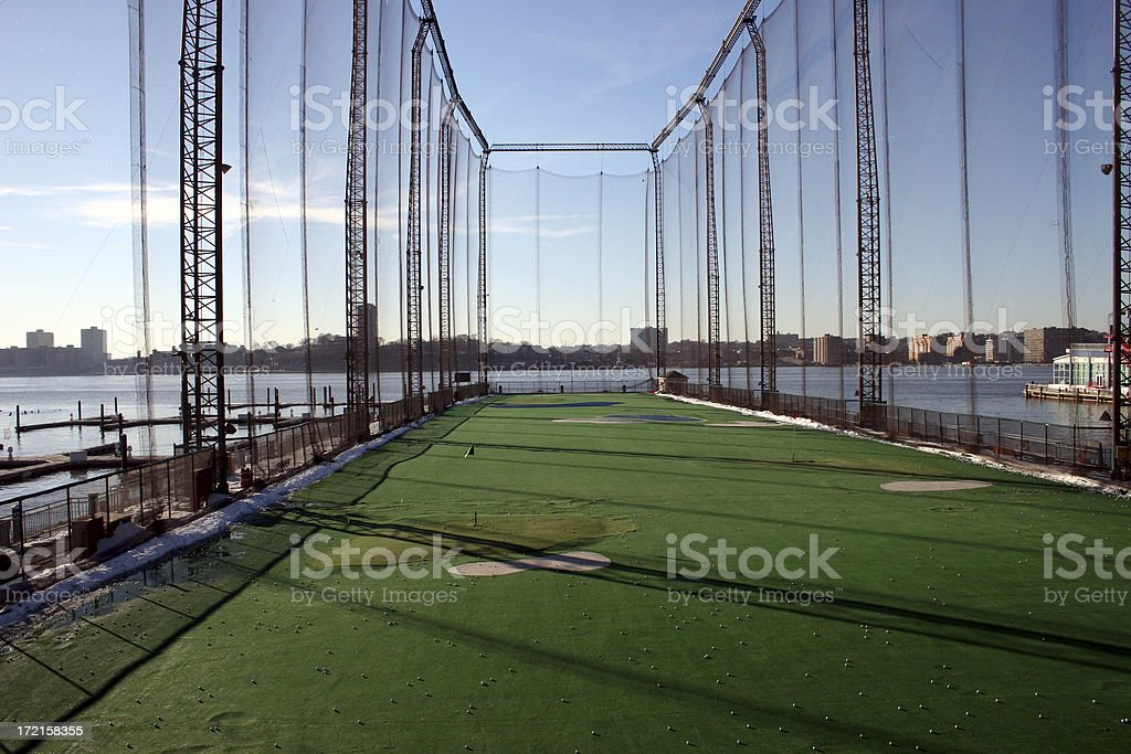 golf driving range royalty-free stock photo