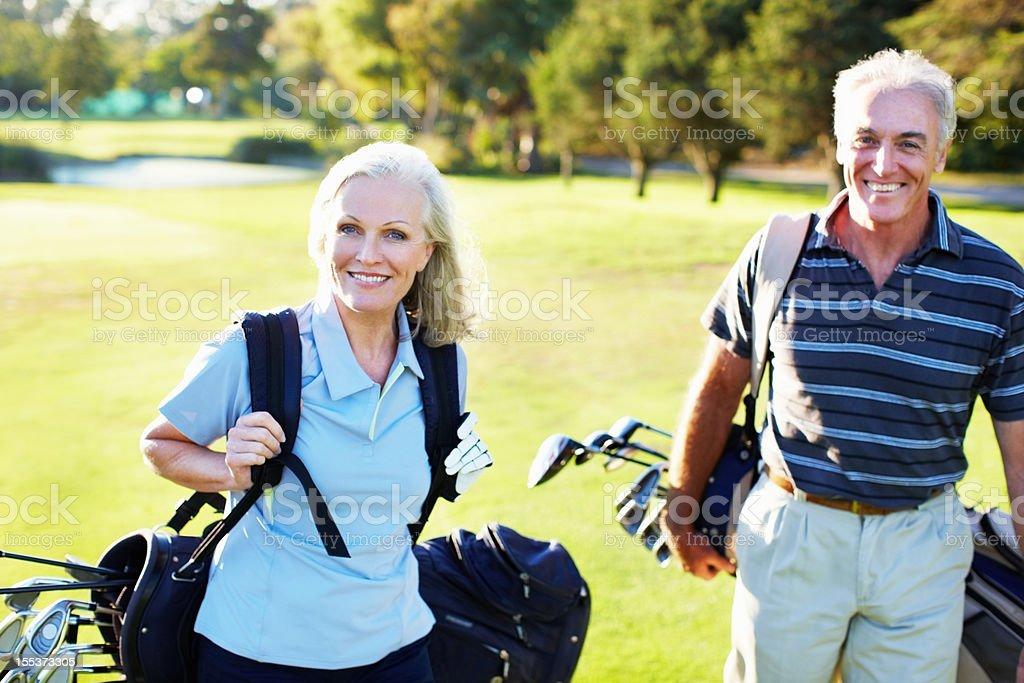 Golf duo stock photo