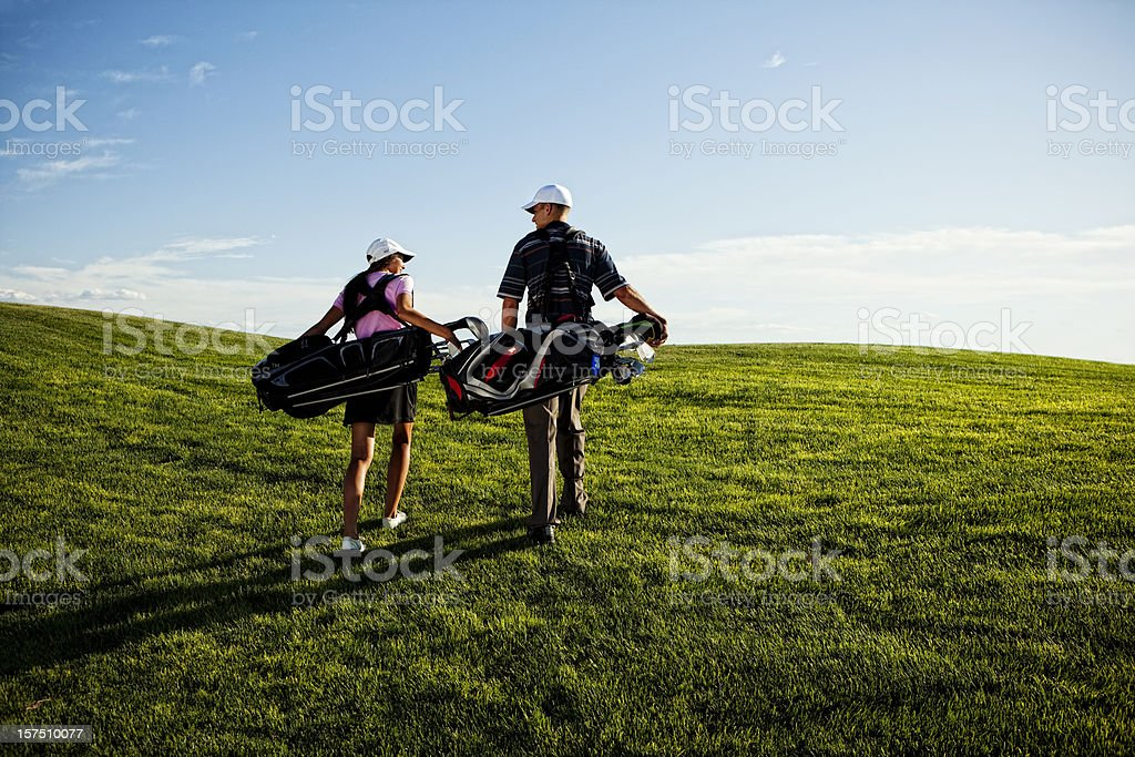 Golf Duo royalty-free stock photo