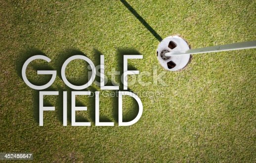 683035640 istock photo Golf field design background photography and typography 452486647
