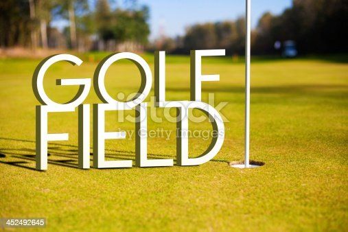 683035640 istock photo Golf field design background photography and typography 452492645