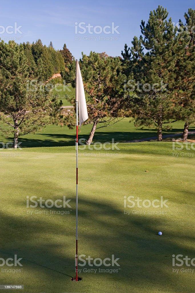 golf flag 03 royalty-free stock photo