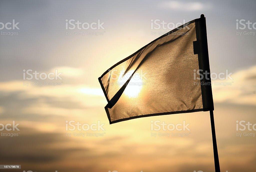 Golf Flag stock photo