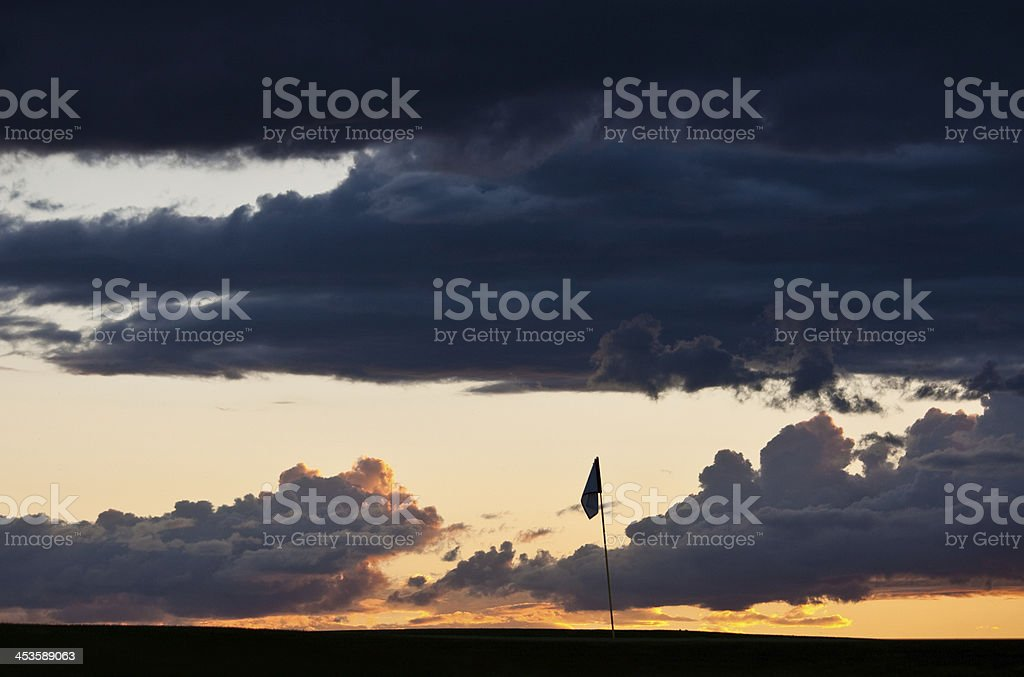 Golf Flag royalty-free stock photo