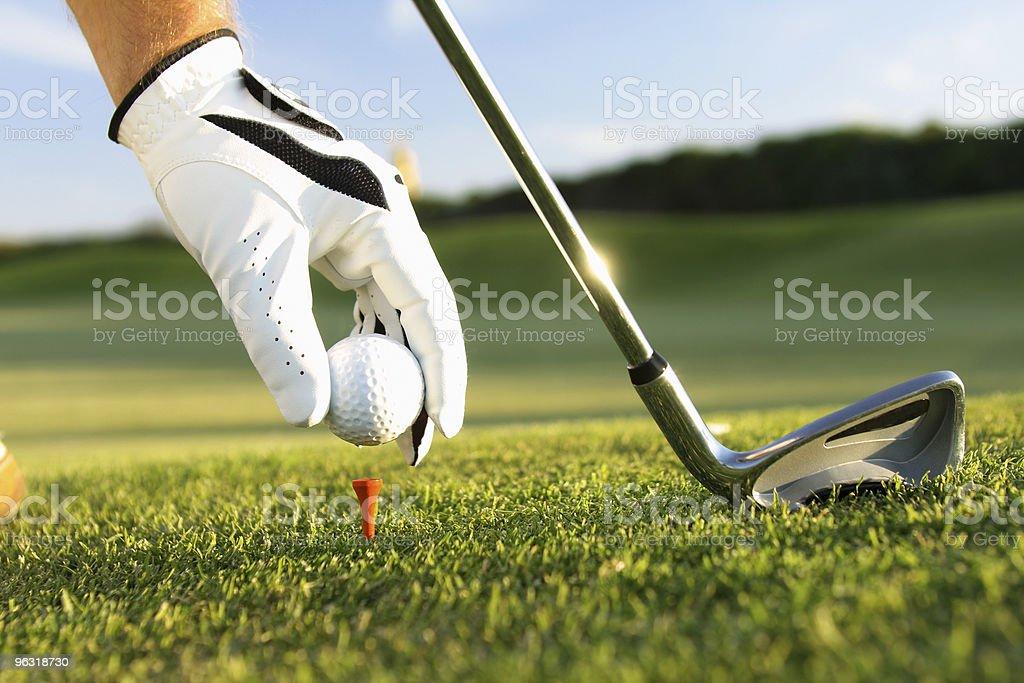 golf glove - Lizenzfrei Abschlagen Stock-Foto